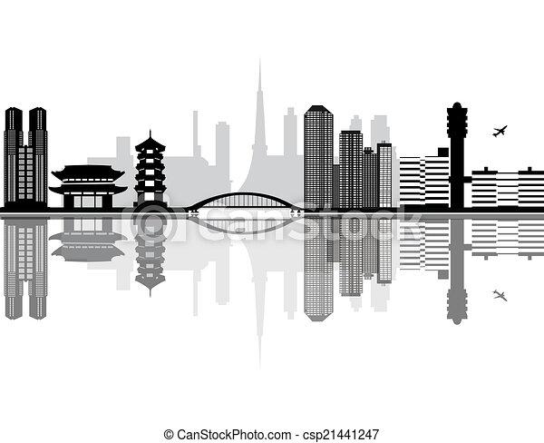 Tokyo Simple Drawing Tokyo Japan City Skyline
