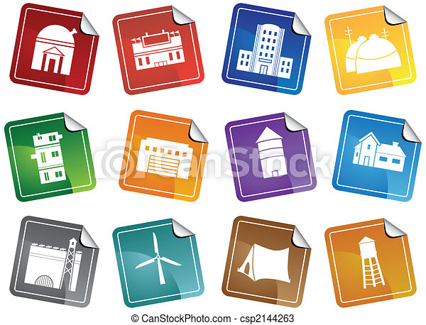 Structure Sticker Icon Set - csp2144263
