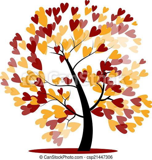 Clipart vecteur de automne arbre mariage autumn wedding tree de rouge csp21447306 - Arbre d automne dessin ...