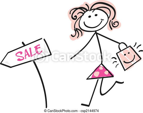 Doodle sale girl - csp2144974