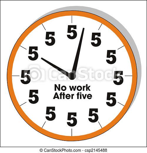 humorous clock - csp2145488