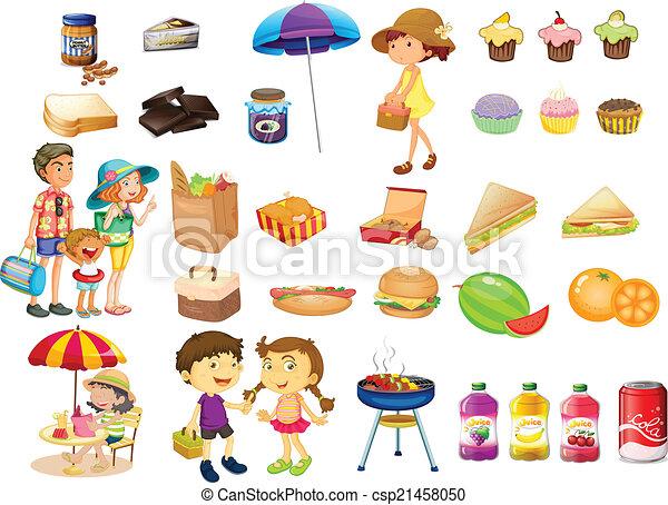 Picnic food Clip Art Vector and Illustration. 6,579 Picnic food ...