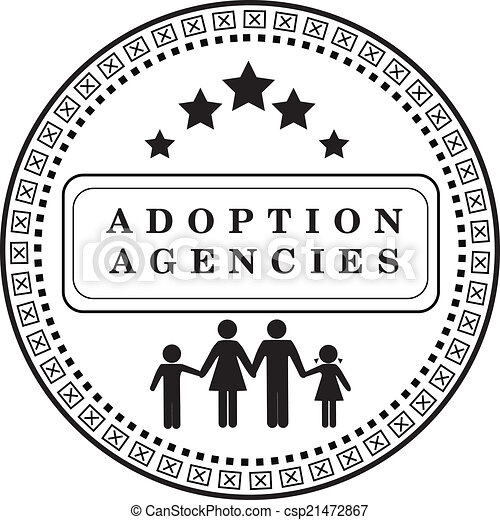 Clip Art Vector of Stamp adoption agency - Stamp mark the adoption ...