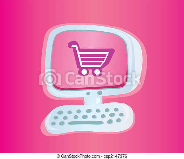 Shopping online VECTOR ICON - csp2147376