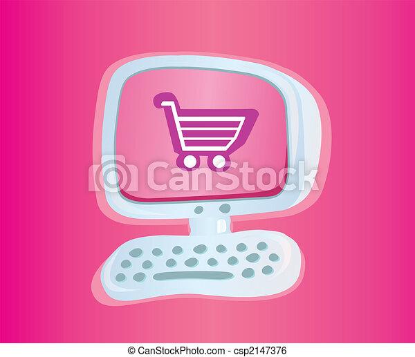 Shopping online VECTOR ICON - csp2147376