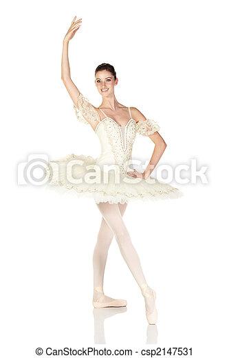 Young caucasian ballerina - csp2147531