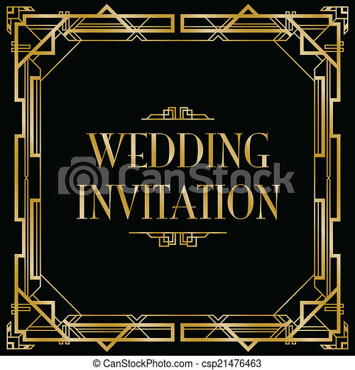 Gatsby Party Invite for perfect invitations example