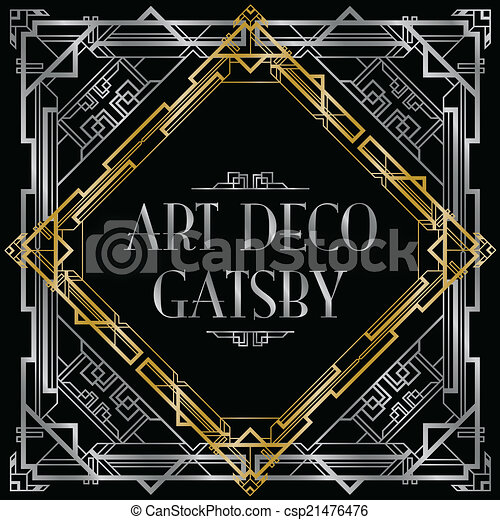 gatsby art deco background - csp21476476