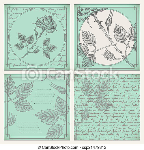 Vintage scrapbooking page - csp21479312