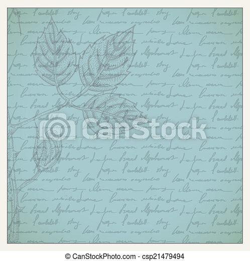 Vintage scrapbooking page - csp21479494