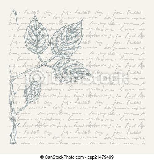 Vintage scrapbooking page - csp21479499