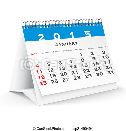 Eps vector van januari 2015 bureau kalender vector for Bureau kalender