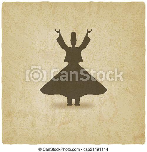 Dervish Dance Drawing Vector Dervish Dancer Old