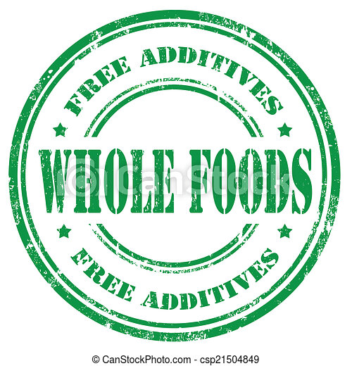 clipart vector of whole foods - stamp with text whole foods inside