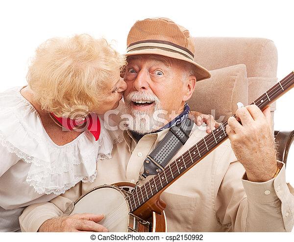 Kiss for Grandpa - csp2150992