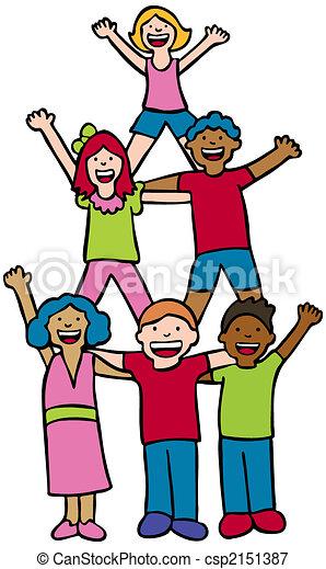 Pyramid Cheer Children - csp2151387