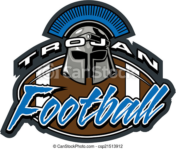 vector clip art of trojan football design csp21513912