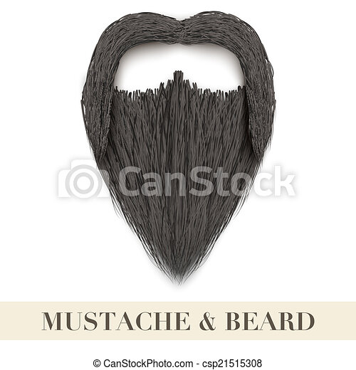 Fu Manchu Mustache Clip Art Mustache - csp21515308