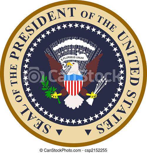 Presidential seal in color - csp2152255