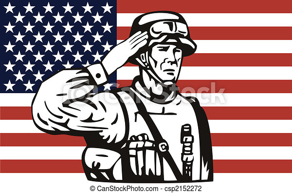 Graphic Black And White American Flag Clipart Vector Design