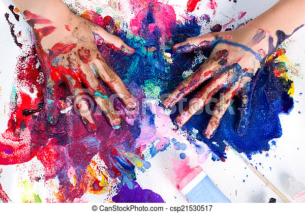 畫, 藝術, 手 - csp21530517