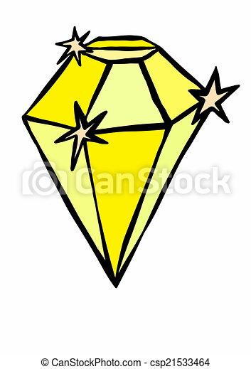 Stock Illustration of doodle yellow diamond csp21533464 ...