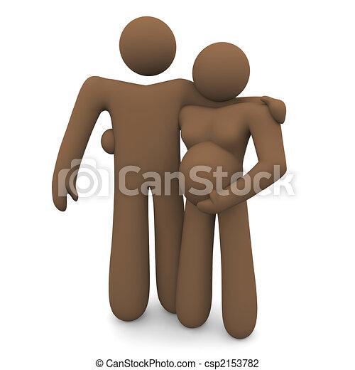 Pregnant Couple - Diversity - csp2153782