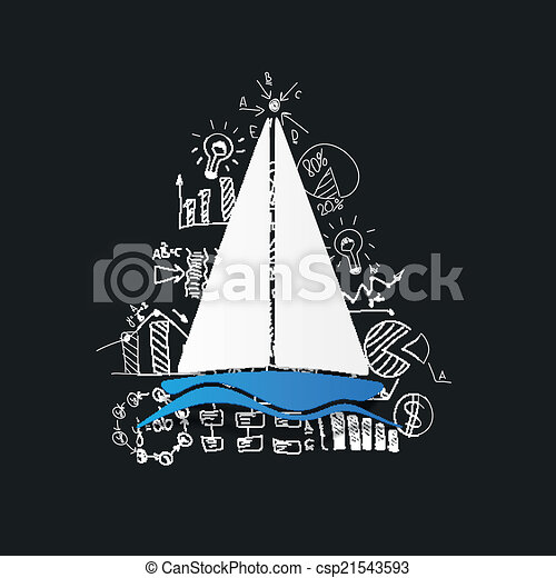 Drawing business formulas: sailboat