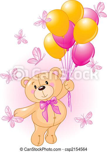 Girl Teddy - csp2154564