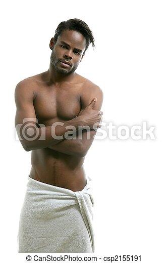 African american nude torso black sexy man - csp2155191
