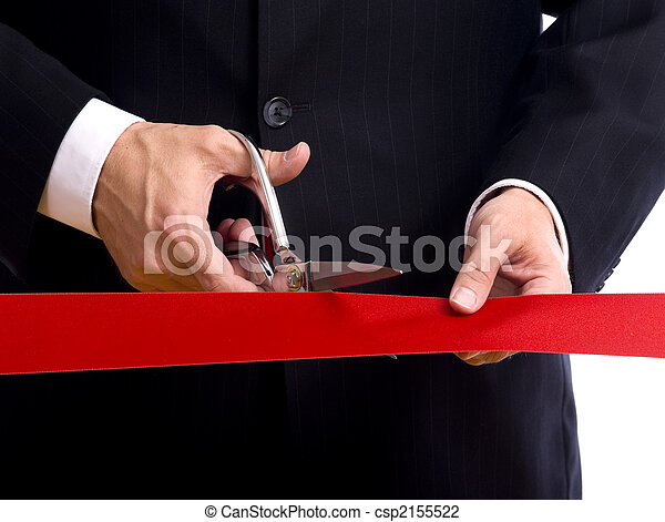 Cutting Red Ribbon - csp2155522