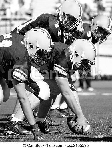 Football linemen getting ready - csp2155595