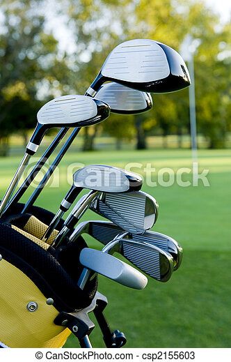 Golf Clubs and Golf Course - csp2155603