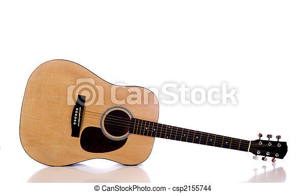 Acoustic Guitar on White - csp2155744