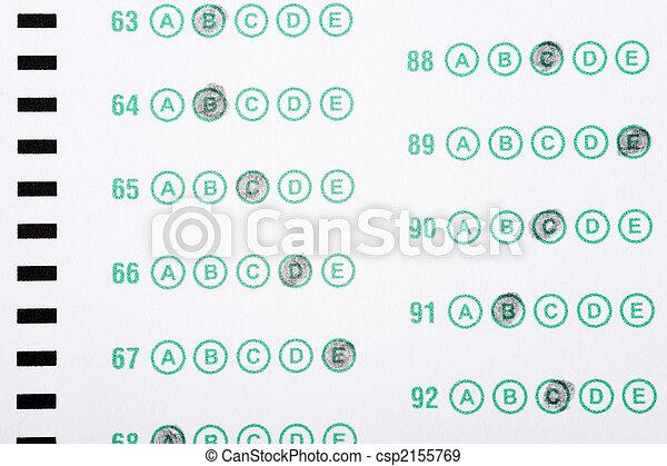 Stock de Fotografos de computadora, leer, respuesta, hoja, examen, o