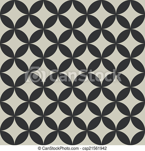 EPS Vector of Seamless abstract intersecting circle shape pattern ...