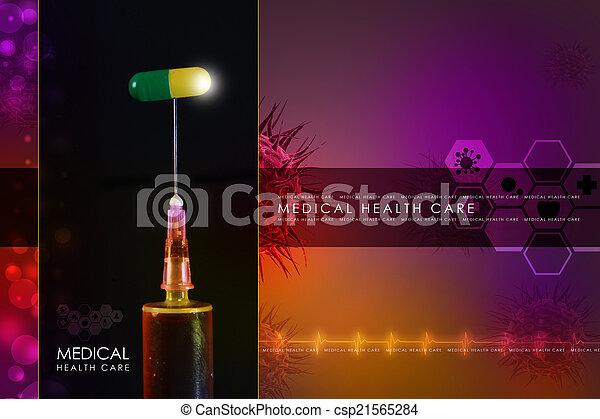 syringe and medicine - csp21565284
