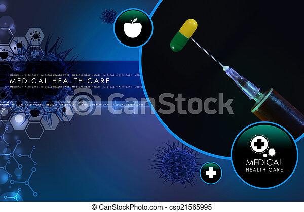 syringe and medicine - csp21565995