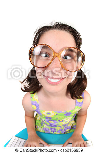 Funny Child Crossing Her Eyes - csp2156959