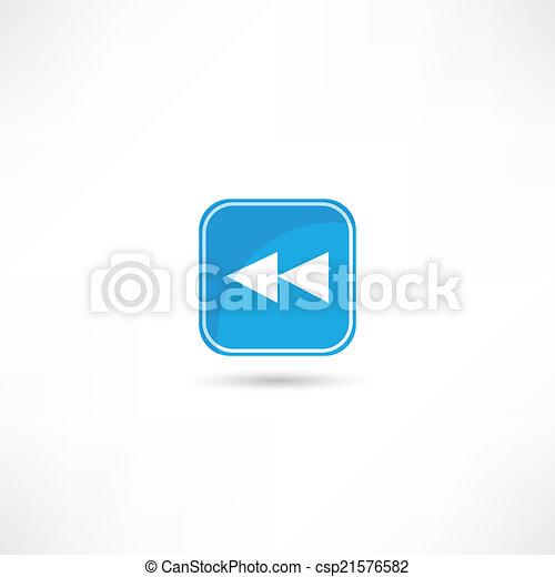rewind icon - csp21576582