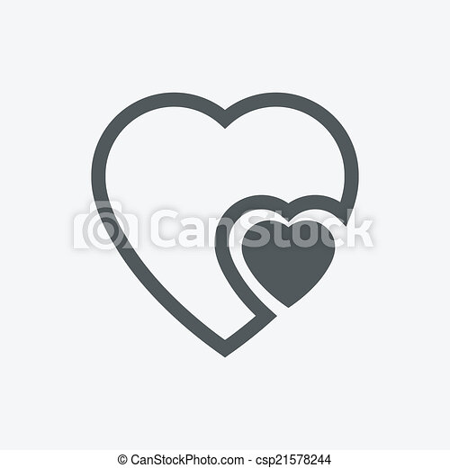 EPS Vector of human heart icons ( signs ) or symbols for love ...