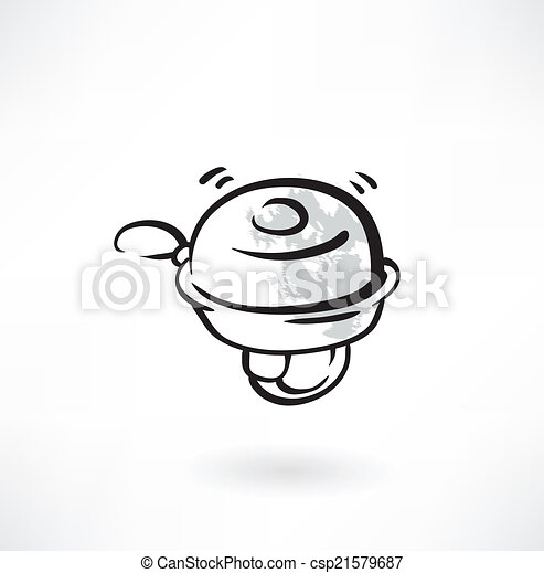 Bicycle Bell Drawing Vector Bicycle Bell Grunge
