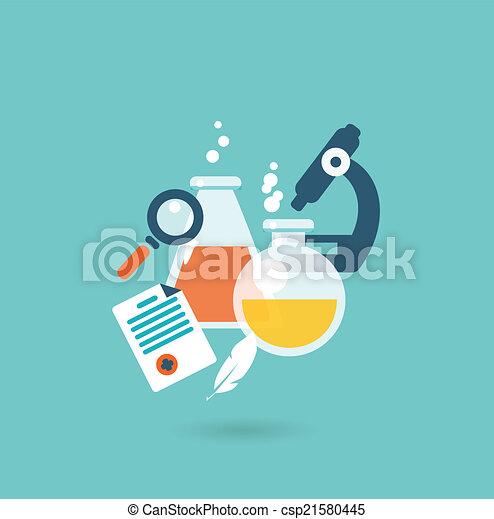 Flat design illustration concept for chemistry - csp21580445