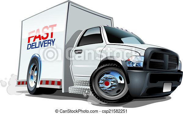 Cartoon delivery cargo truck - csp21582251