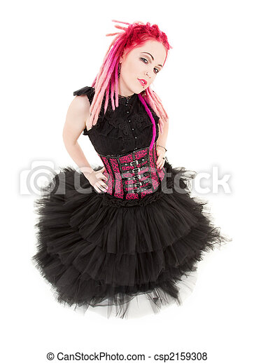 pink hair girl - csp2159308