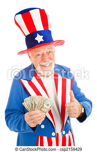 Uncle Sam - Economic Recovery - csp2159429