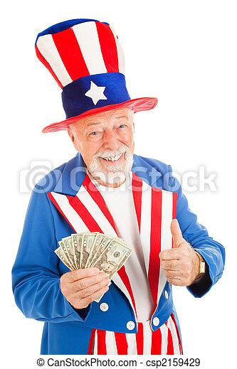 Uncle Sam - Economic Recovery - csp2159429