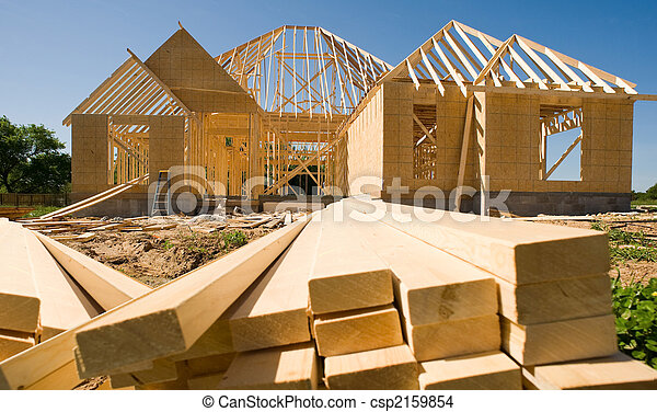 Novo, construção, lar - csp2159854