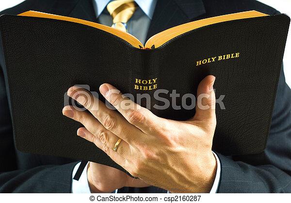 Preacher with Bible - csp2160287
