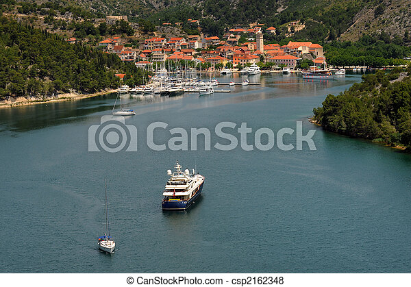 Skradin in Croatia - csp2162348
